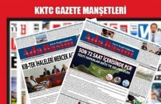 KKTC Gazete Manşetleri / 2 Mayıs 2021
