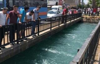 Adana'da sulama kanalına giren kişi kayboldu