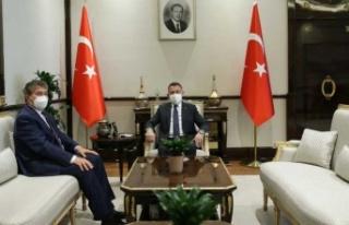 """"""" Bakan Üstel, Ankara'da Fuat Oktay ile görüştü..."""