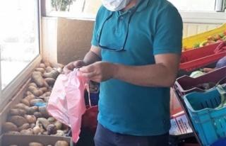 Çevre Koruma Dairesi Lefke'de Poşet Denetimi Yaptı