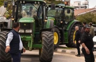 Çiftçiler Lefkoşa'ya giremiyor