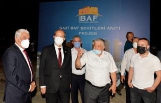 Cumhurbaşkanı Tatar Gazi Baf Şehitleri Anıtı...