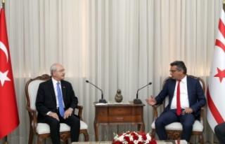 Erhürman, Kemal Kılıçdaroğlu ile görüştü.