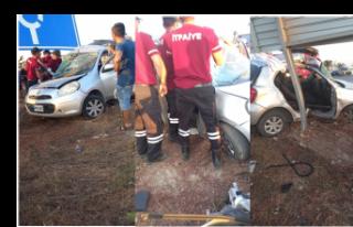 Gazimağusa - Karpaz Anayolu'nda kaza