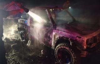Yılmazköy - Şirinevler Anayolu'nda araç yandı