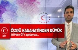 BTP'den Erdoğan'a ÖTV yanıtı