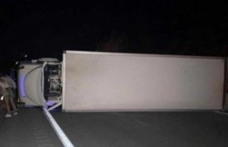Freni boşalan kamyon sürücüsü, faciayı önlemek...