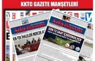 KKTC Gazete Manşetleri / 25 Temmuz 2021