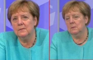 Merkel canlı yayında yorgunluktan gözlerini açamadı