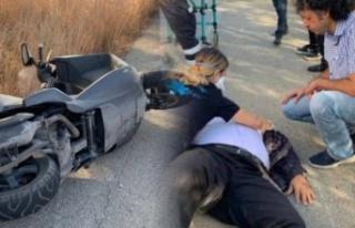 Girne-Lefkoşa anayolu üzerinde trafik kazası. 1...