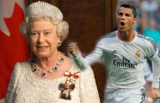 Kraliçe Elizabeth istedi Cristiano Ronaldo tarihe...