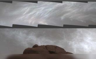 NASA'nın uzay aracı, Mars'ın ışıltılı bulutlarını görüntüledi