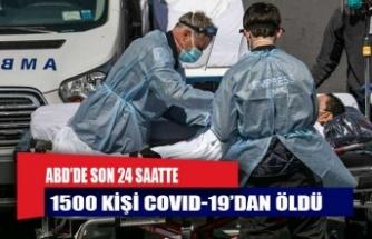 ABD'de son 24 saatte 1500 yeni ölüm