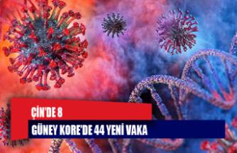 Çin'de 8, Güney Kore'de 44 yeni vaka
