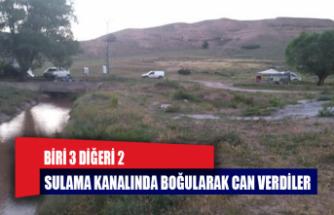 Sulama kanalına düşen iki çocuk boğuldu