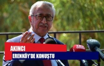 """Akıncı Erenköy'de konuştu: """"Rotayı bize halkımız çizecek, halk karar verecek"""""""
