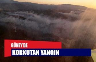 Güney'de korkutan yangın: 20 kilometrelik alana yayıldı!