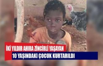 İki yıldır ahıra zincirli yaşayan 10 yaşındaki çocuk kurtarıldı