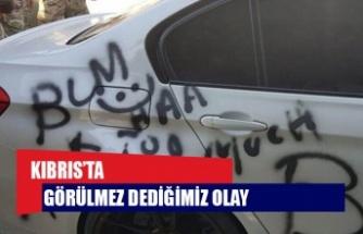 Kıbrıs'taki İngiliz Üssü'nde çalışan siyahi askerin aracına ırkçı saldırı