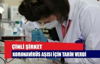 Çinli şirket koronavirüs aşısı için tarih verdi