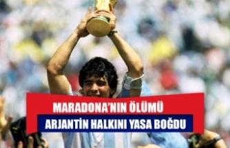 Maradona'nın ölümü Arjantin halkını yasa boğdu