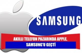 Akıllı telefon pazarında Apple, Samsung'u geçti