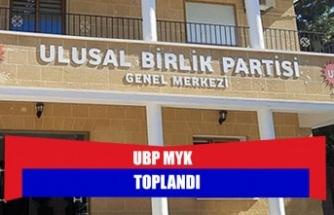 UBP MYK TOPLANDI