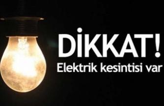 4 saatlik elektrik kesintisi!