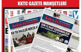 KKTC Gazete Manşetleri / 19 Eylül 2021
