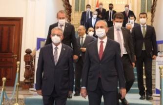 Kutlu Evren, Türkiye Adalet Bakanı Abdulhamit Gül ile görüştü