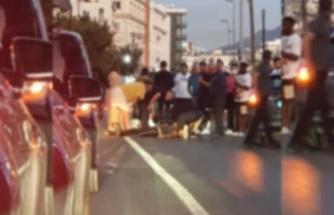 Girne'de yayaya çarptılar, 1 kişi yaralandı