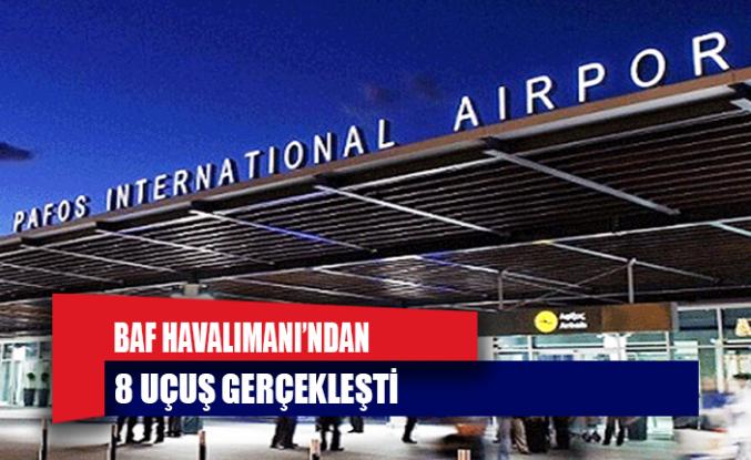 Baf Havalimanı'ndan 8 Uçuş Gerçekleşti