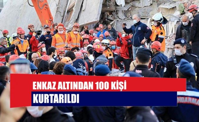 Enkaz altından 100 kişi kurtarıldı