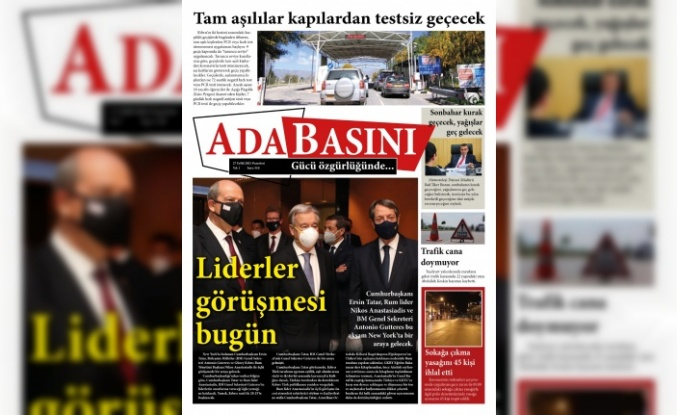 KKTC Gazete Manşetleri / 27 Eylül 2021