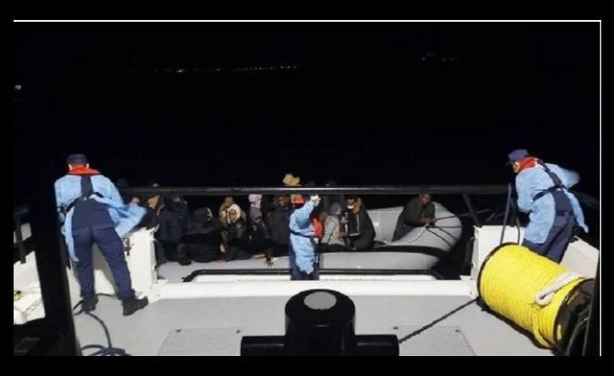 İzmir ve Aydın açıklarında 39 düzensiz göçmen kurtarıldı