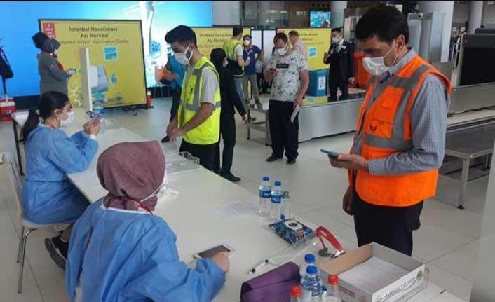 İstanbul Havalimanı Aşı Merkezi hizmete açıldı