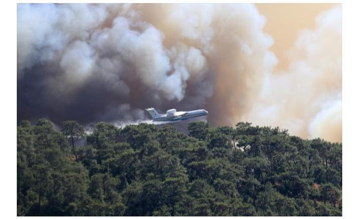 Marmaris'te yangın devam ediyor!
